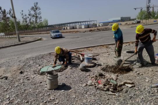 泓澄水处理有限公司对城区管网进行 安全生产检查